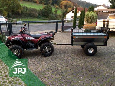Kawasaki ATV und Anhänger Gärtner